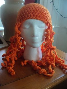 Merida from Brave,  inspired hat. $25.00, via Etsy.   i just like the idea of a crochet hat with curly hair...!