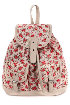 Sweet Floral Print Backpack Backpac | Backpacks for girls, Girls ...
