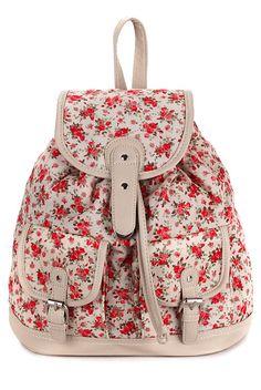 Sweet Floral Print Backpack Backpac | Backpacks for girls, Girls ...
