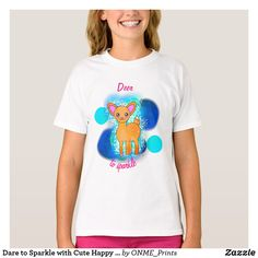 Dare to Sparkle with Cute Happy Deer T-Shirt  #Onmeprints #Zazzle #Zazzlemade #Zazzlestore #Zazzlestyle #Dare #Sparkle #Cute #Happy #Deer #T-Shirt Blue Glitter, Kawaii Cute, Kawaii Fashion, Cute Designs, Dares, Cute Kids, Fitness Models, Kids Outfits, Sparkle