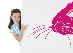 Rabbit Easter Bunny's Nose Vinyl Decal by VinylWallAdornments