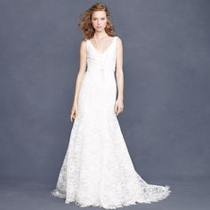 J Crew Sarah Lace Gown (Ivory)