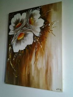 Dimensions: 60 cm x 80 cm Design by the artist Gabriela Men .- Dimensiones: 60 cm x 80 cm Diseño de la artista Gabriela Mensaque Dimensions: 60 cm x 80 cm Design by the artist Gabriela Mensaque - Acrylic Painting Flowers, Acrylic Art, Acrylic Painting Canvas, Fabric Painting, Texture Painting, Canvas Art, Art Drawings Sketches, Painting Inspiration, Flower Art