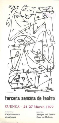 """""""Tercera Semana de Teatro Cuenca"""", Marzo 1977 organizada por la Asociación Amigos del Teatro de Cuenca #Cuenca #Teatro #AsociacionAmigosTeatroCuenca"""