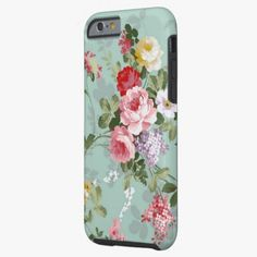 iPhone 6 Cases | Vintage Elegant Pink Red Roses Pattern iPhone 6 Case