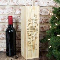 Personalised Christmas Alcohol Bottle Presentation Box