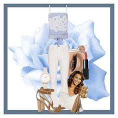 """Blue Rose"" by gabi-girl ❤ liked on Polyvore featuring NYX, Christian Louboutin, NARS Cosmetics, lila.eugenie, rag & bone, Alexander White and Olivia Burton"