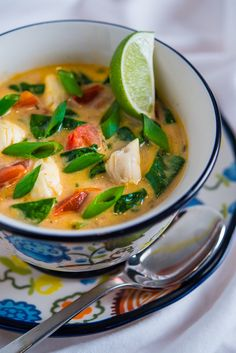Crab, Spinach, and Coconut Soup