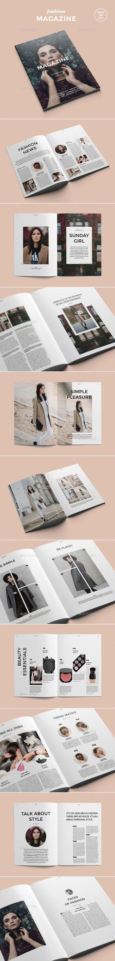 Fashion Magazine - Magazines Print Templates: