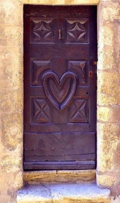 Carved Purple door