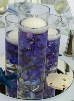 Candles & Flowers - Floating Centerpiece