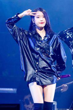 IU anniversary concert in Jeju Love U Forever, Pop Fashion, Kpop Girls, Asian Beauty, Korean Fashion, Style Me, Bomber Jacket, Anime, Photos
