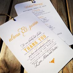 Wedding welcome bag thank you note on @offbeatbride