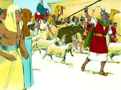Free Bible illustrations at Free Bible images of Moses and the Red Sea crossing. (Exodus 13:7 - 15:21): Slide 1