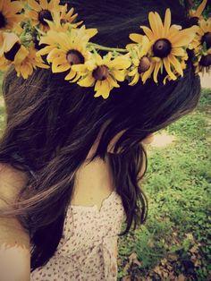 Sunflower crown.