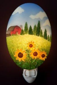 Amazon.com: Old Barn & Sunflowers Night Light - Ibis & Orchid Designs: Home Improvement