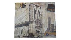 Tela para parede Walk. Medidas: 84 x 96 cm Ref.: 01. http://www.moradamoveis.com/