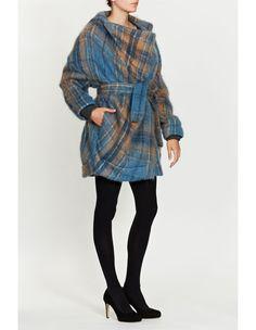 Red Label Mohair Blend Check Short Coat, Vivienne Westwood