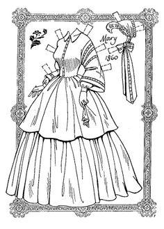 Abe and Mary Todd Lincoln - Charles Ventura - Бумажные куклы - Каталог статей - Бумажные куколки Colouring Pages, Coloring Books, Coloring Sheets, Mary Todd Lincoln, Abraham Lincoln, Art Origami, Doll Divine, Paper Dolls Printable, Anime Dolls