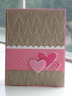 Cuttlebug Embossing Folder Heart Blocks