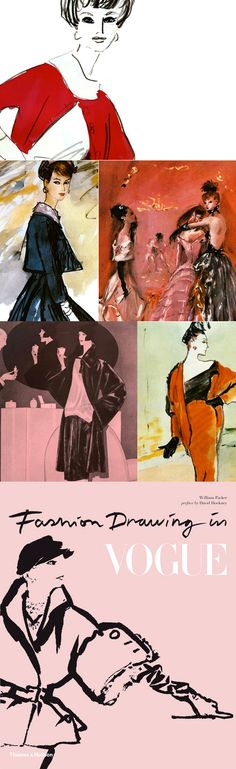 New book on my wish list: Fashion Drawing in Vogue, William Packer, painter, writer and art critic,