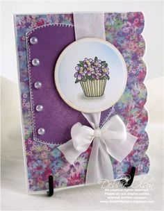 My creative journey Mom And Grandma, Violets, Flower Cards, Pansies, Scrapbooking Ideas, Handmade Cards, Card Ideas, Birthday Cards, Stamps