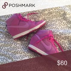 Pink Nike sky high dunks Size 8 Shoes Sneakers
