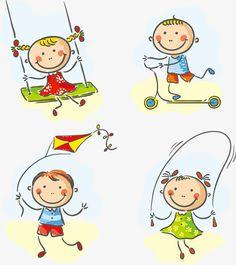 Cartoon crianças brincando NAS Imagens EM movimento, Imagens De Desenhos Animados, Movimento DOS Desenhos Animados, Imagens EM Movimento PNG e Vector