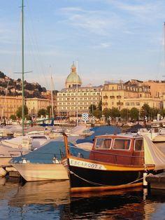 Boats in Como's harbor ~ Como, Italy