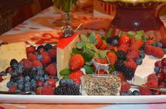 Valentine's Day Party: Cheese and Fruit Platter