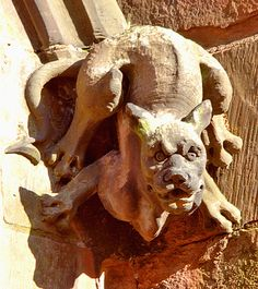 Devil Dog, Gargoyle, Carlisle Cathedral by Churchcat, via Flickr