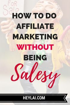 This is a quick and easy way to do affiliate marketing without being salesy and feely icky about it. If you're new to affiliate marketing, then this will help you get past feeling like a fraud. Continue reading...