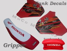 KIT SEAT COVER GRIPP  & TANK DECALS & REAR FENDER BAGS HONDA XR 600 R, XR600 #MmCdMotoShop