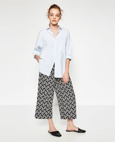 FLOWING CROPPED TROUSERS