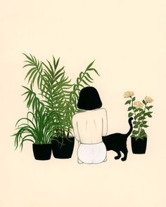 Story of my life #cat #plants