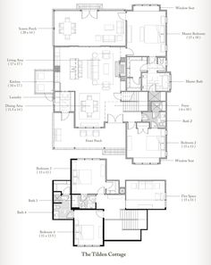 Homes at Wilson Cottage - Palmetto Building Plans, Building Design, Building A House, Dream House Plans, House Floor Plans, Bedroom Screens, Architectural House Plans, Palmetto Bluff, Floor Plan Layout