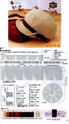 This Pin was discovered by Евг Crochet Adult Hat, Bonnet Crochet, Crochet Summer Hats, Crochet Kids Hats, Crochet Cap, Crochet Shoes, Crochet Beanie, Crochet Motif, Diy Crochet