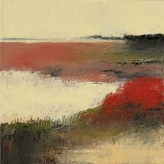 "Irma Cerese, Big Noc Bay #1 acrylic on canvas 12""x12"""