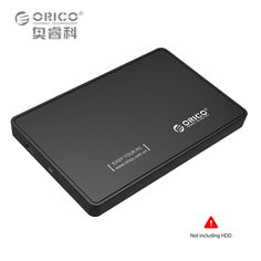 ORICO 2588US-V1-BK Portable USB2.0 2.5'' Hard Drive Housings HDD Enclosure for Notebook-Black ((Not including HDD))