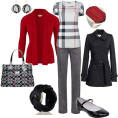 red and black and gray, created by lagu.polyvore.com