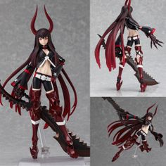 Figma 168 Black Gold Saw Rock Shooter TV Animation Version Figure Max Factory JP