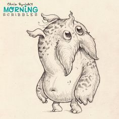 Facial accessories are all the rage with monsters these days. #morningscribbles