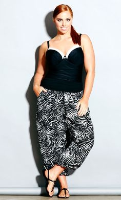 city chic - sonic harem pant - women's plus size fashion #citychic