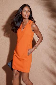 Crepe Detail Dress