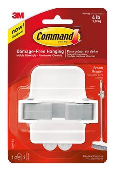 Amazon.com: Command Broom Gripper, White with Grey Band: Storage & Organization