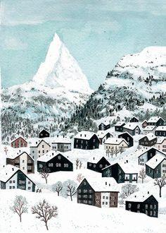 winter landscape  von Paola PA.BU auf Etsy