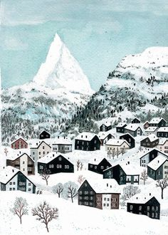 Zermatt by beccastadtlander on Etsy, $30.00