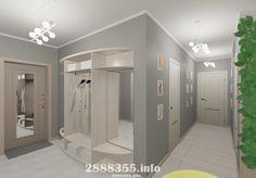 Дизайн коридора в светлых тонах2