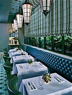 Chamberlain Hotel Bistro designed by David McCauley Interior Design