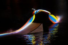 Experimental Light Painting Photographs with Lights Strapped to Wakeboards wakeboardlightpainting 3